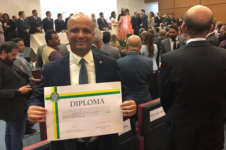 O deputado Major Vitor Hugo (PSL-GO), que assumiu a liderança do governo Bolsonaro na Câmara