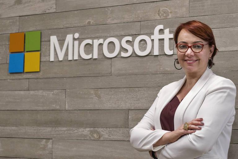Tânia Consentino, nova presidente da Microsoft no Brasil; ela substitui Paula Bellizia, que vira vice-presidente de vendas para América Latina
