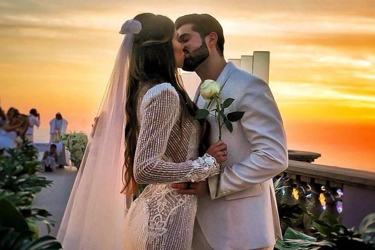 DJ Alok e Romana Novais se casam aos pés do Cristo Redentor no Rio durante o nascer do sol