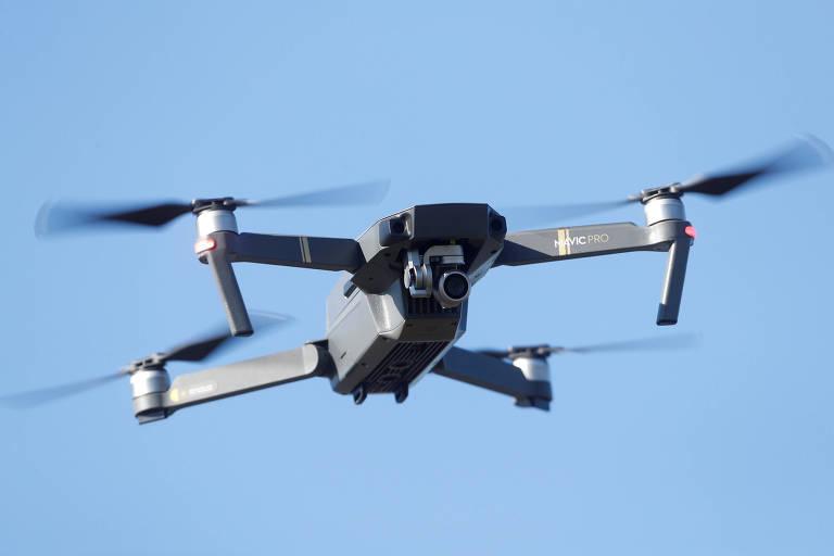 Drone com câmeras no céu; projeto pode ser anunciado nesta terça-feira