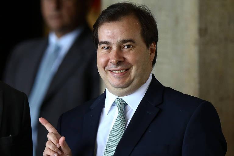 O presidente da Câmara dos Deputados, Rodrigo Maia (DEM-RJ), após um café da manhã no CCBB, onde funcionou o governo de transição