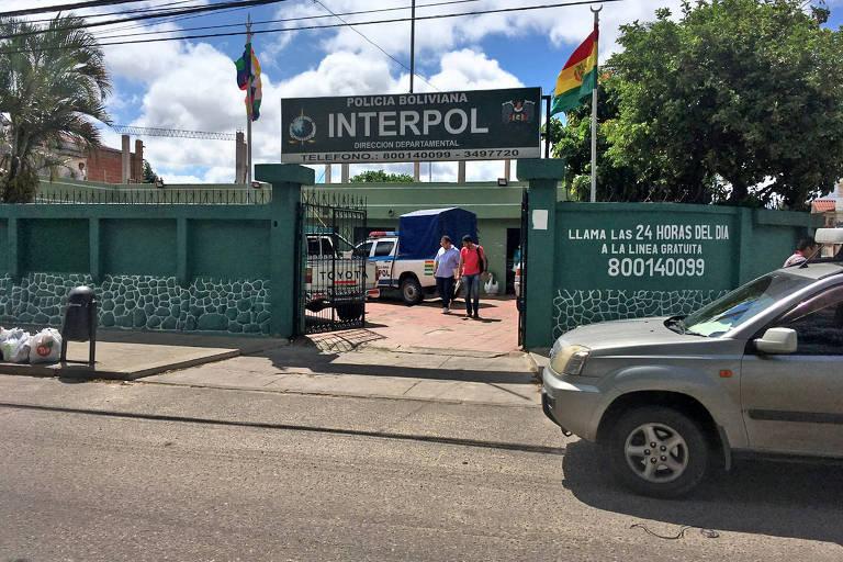Fachada da unidade da Interpol em Santa Cruz de La Sierra, onde Battisti foi preso