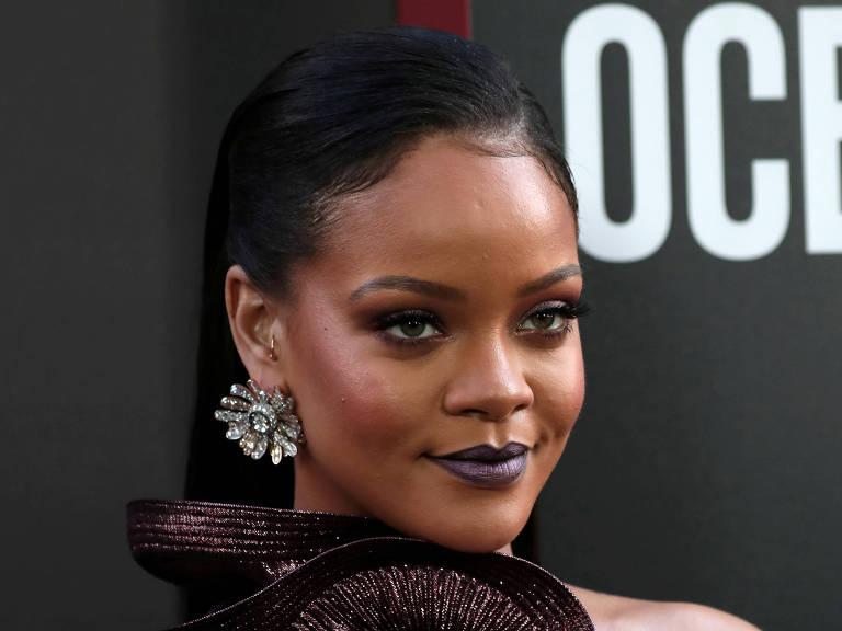 """Rihanna na première do filme """"Ocean's 8"""" em Nova York"""
