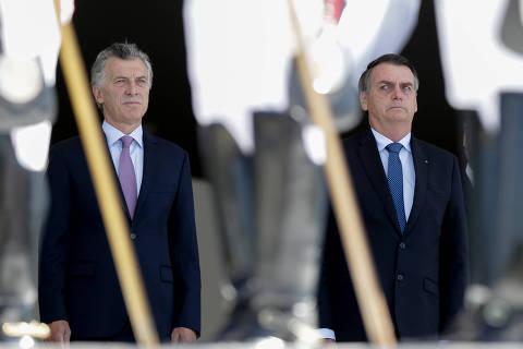 Ao lado de Bolsonaro, Macri ataca Maduro e defende Mercosul