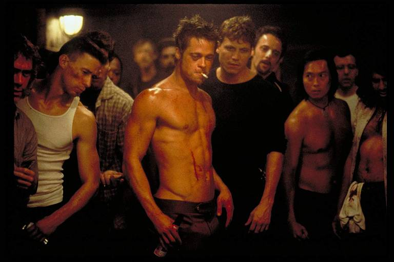 """Cena do filme """"Clube da Luta"""", um dos filmes mais famosos lançados em 1999"""