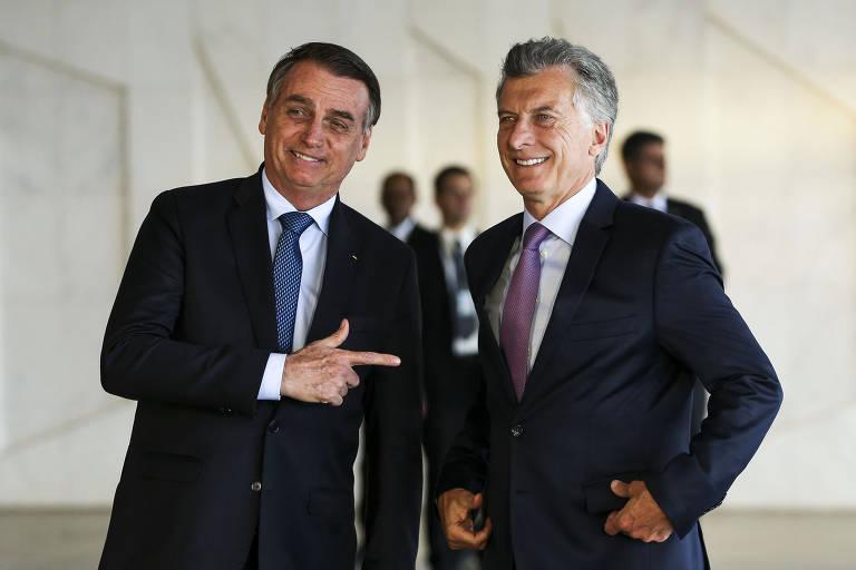 Bolsonaro e Macri no Palácio da Alvorada
