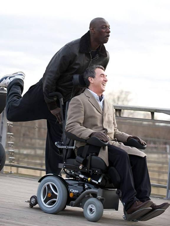 Omar Sy e François Cluzet em 'Intocáveis'