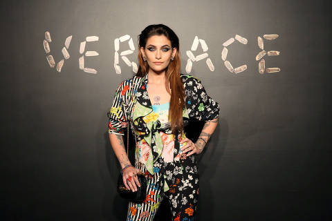 FILE PHOTO: Actress Paris Jackson poses for a photo before attending the Versace presentation in New York, U.S. December 2, 2018. REUTERS/Allison Joyce/File Photo ORG XMIT: FW1