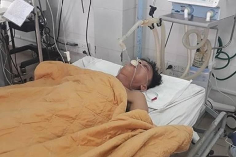 """Nguyen Van Nhat, paciente que precisou receber """"transfusão"""" de cerveja em hospital no Vietnã"""