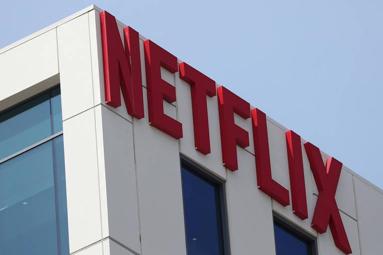 Logo da Netflix no escritório de Los Angeles, na Califórnia