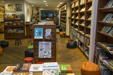 SÃO PAULO, SP, BRASIL. 11/01/2019. Detalhe da livraria especializada em livros para crianças NoveSete. (Foto: Jardiel Carvalho/Folhapress) ***EXCLUSIVO FOLHA  - ((ATENÇÃO -  AS FOTOS NÃO PODEM SER PUBLICADAS SEM A AUTORIZAÇÃO DO NÚCLEO DE IMAGENS)).