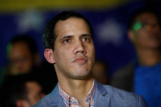 Juan Guaido, President of Venezuela's National Assembly, attends a gathering in Caracas