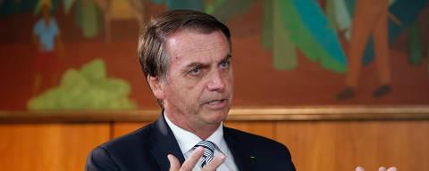 (Brasília - DF, 03/01/2019) Presidente da República, Jair Bolsonaro, durante entrevista para o jornal do SBT. Foto: Alan Santos/PR