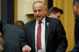 FILE PHOTO: Rep. Steve King waits for DHS Secretary Nielsen testimony at House Judiciary Committee oversight hearing in Washington