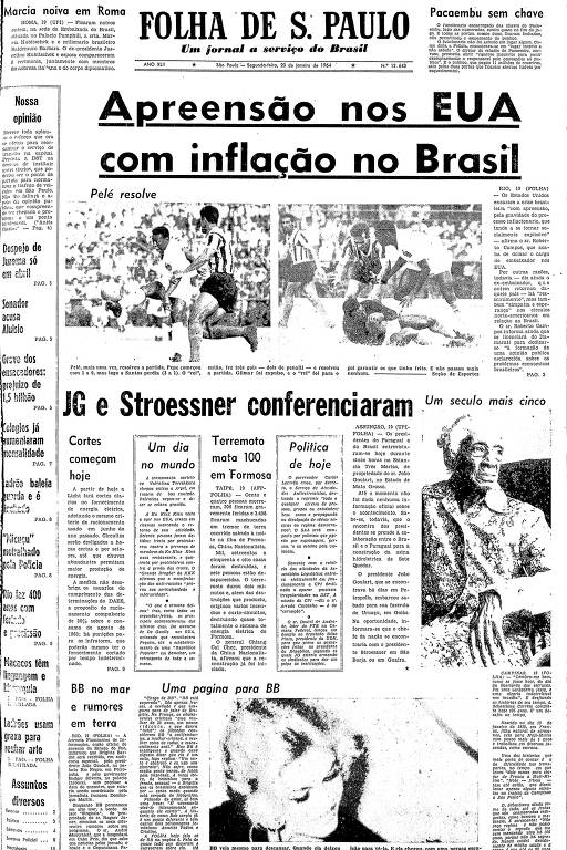 A cobertura jornalística do dia em que Pelé jogou como goleiro