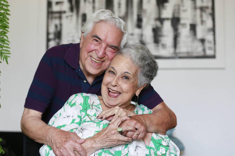 Liça Bomfim, 78, conheceu Luiz Rocha, 87 há oito anos