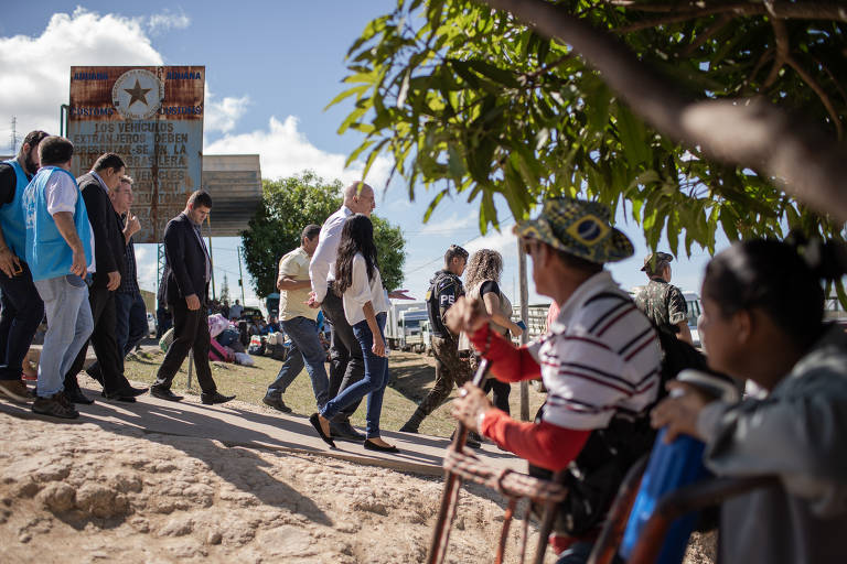 Refugiados venezuelanos em Pacaraima