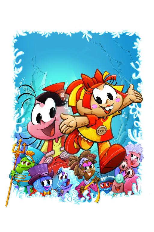 Ilustração de Mauricio de Sousa para o livro