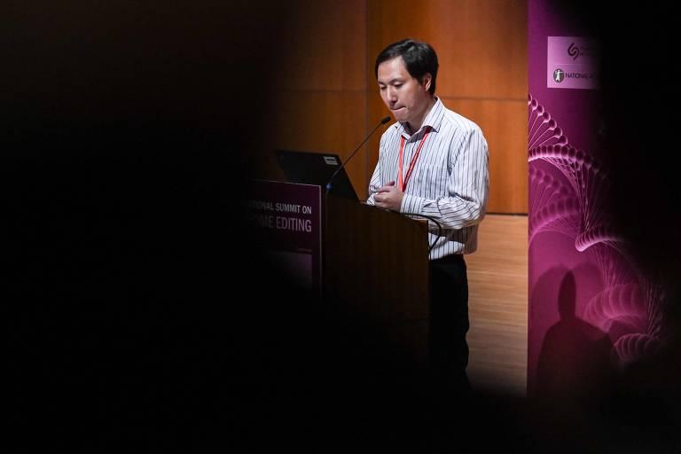 O cientista He Jiankui, que diz ter editado genes de bebês
