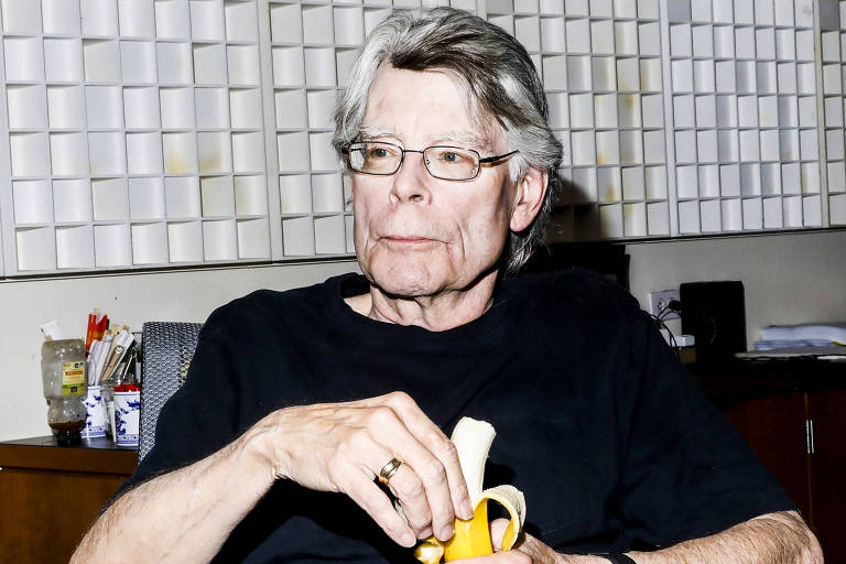 O autor Stephen King em Nova York