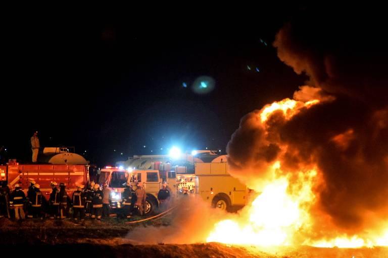 Explosão de tubulação de combustível no México