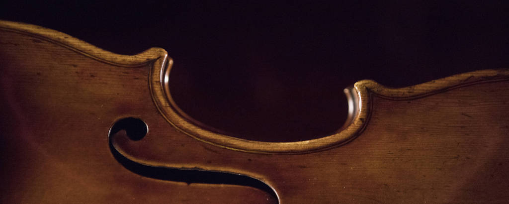 """The """"Vesuvius"""" violin, made by Antonio Stradivari in 1727, in the Museum del Violino in Cremona, Italy, Jan. 11, 2019. The museum is assisting with an ambitious recording project, """"Stradivarius Sound Bank,"""" to preserve the sound of Stradivarius instruments for future generations"""