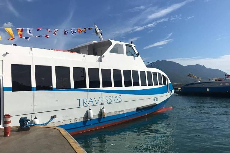 Novo catamarã para o transporte exclusivo de pedestres e ciclistas na travessia entre São Sebastião e Ilhabela