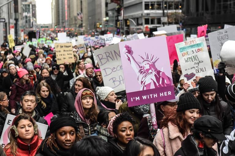 A Marcha das Mulheres nos EUA em 2019