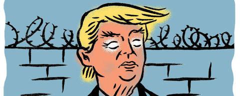 Ilustração sobre os dois anos de Trump na presidência dos EUA