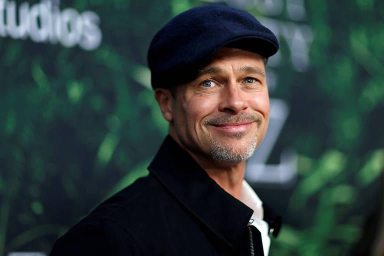 """O ator Brad Pitt na estreia do filme """"Z: A Cidade Perdida"""" em Los Angeles"""