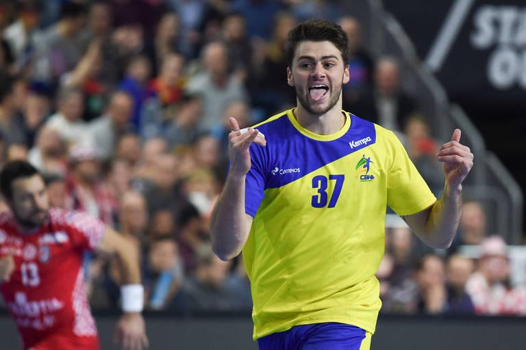 Haniel foi eleito o melhor jogador da vitória do Brasil diante da Croácia no Mundial