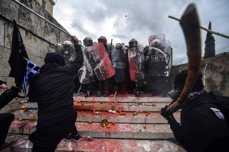 Na Grécia, novo nome da Macedônia motiva protestos violentos