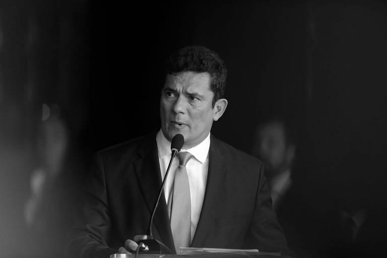 Sergio Moro durante cerimônia no Ministério da Justiça, em Brasília, no início deste mês