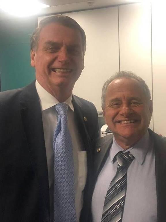 Carlos Manato, candidato derrotado do PSL ao governo do ES, ao lado de Bolsonaro