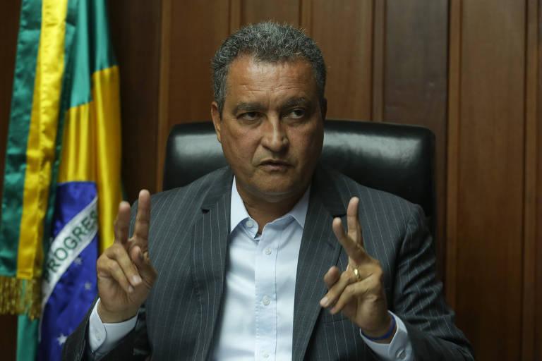 Rui Costa (PT), governador reeleito da Bahia, durante entrevista à Folha
