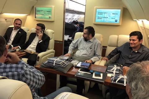 Jair Bolsonaro dutrante viagem a Davos. Foto: @bolsonarosp/twitter