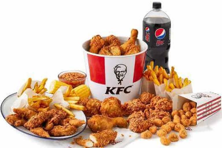Produtos da rede de restaurantes KFC
