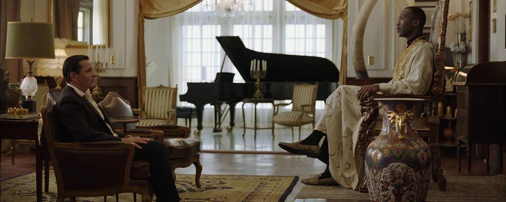 Os atores Viggo Mortensen e Mahershala Ali em cena do filme 'Green Book'