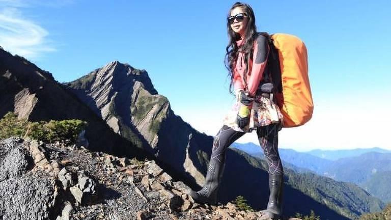 Taiwanesa tem sido homenageada nas redes sociais como uma alpinista inspiradora