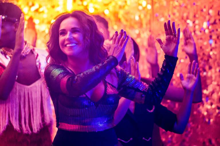 A cantora Daniela Mercury na gravação do clipe de 'Proibido o Carnaval'