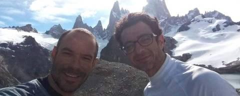 O capixaba Fabrício Amaral e o mineiro Leandro Ianotta, que desapareceram no Monte Fitz Roy, na Argentina