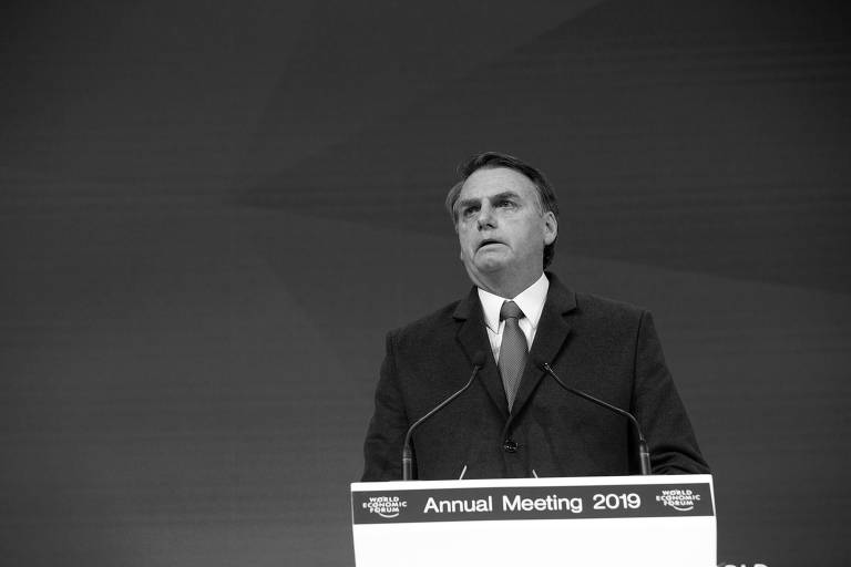 O presidente Jair Bolsonaro participa do Fórum Econômico Mundial, em Davos