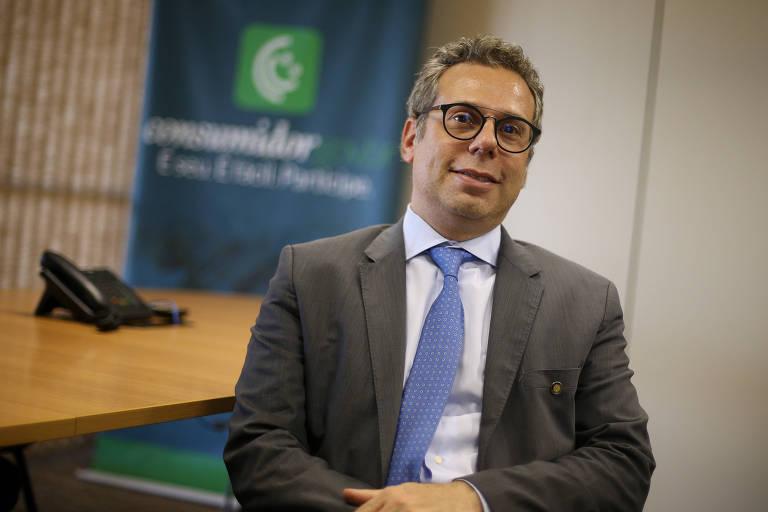 O novo secretário do Consumidor, Luciano Benetti Timm, em seu gabinete