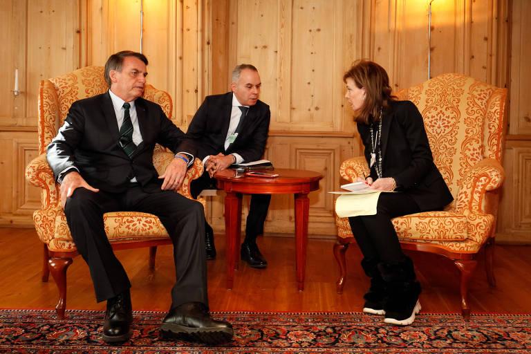 Presidente da República, Jair Bolsonaro, durante entrevista para Lally Weymouth do The Washington Post