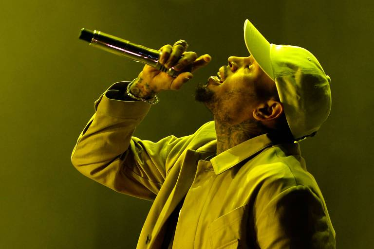 O rapper americano Chris Brown
