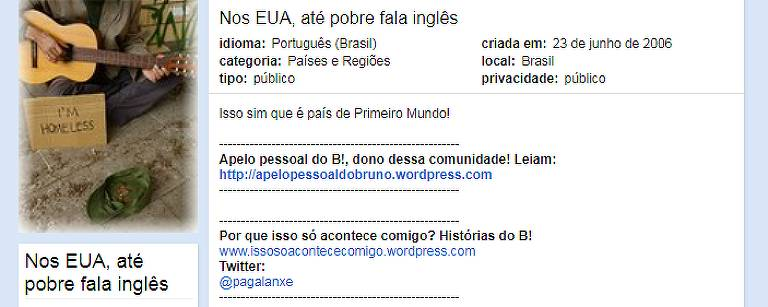 Comunidades de Bruno Predolin no Orkut, que criou 715 no total