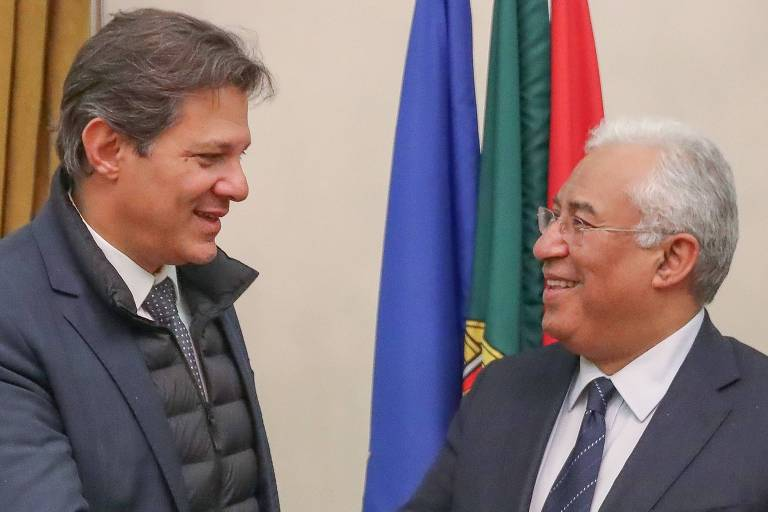 Fernando Haddad se encontra com Antônio Costa, primeiro-ministro de Portugal, em Lisboa
