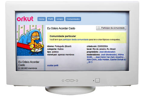 Há 15 anos surgia o Orkut. Primeira rede social amplamente usada no Brasil tinha várias comunidades engraçadas   *** MOSAICO ***