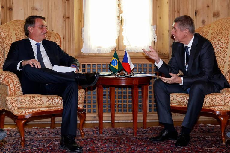 Presidente da República, Jair Bolsonaro, durante reunião Bilateral com o Primeiro-Ministro da República Tcheca, Andrej Babis