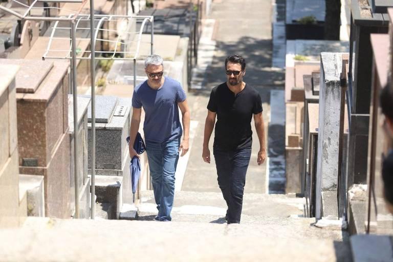 Os atores Ângelo Paes Leme e Rodrigo Santoro
